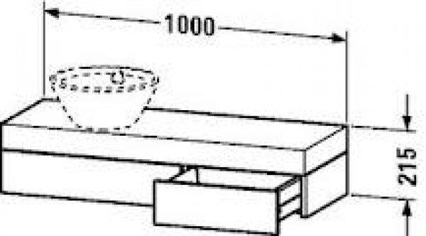 duravit fogo konsole 8372 1000mm mit ausschnitt links f r. Black Bedroom Furniture Sets. Home Design Ideas