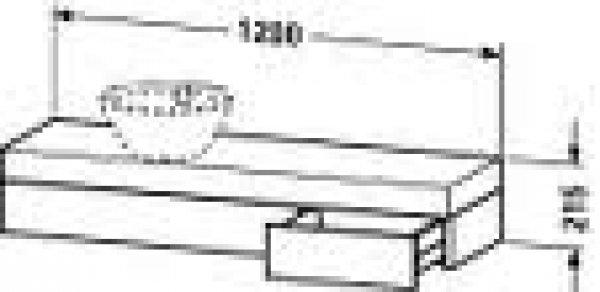 duravit fogo konsole 8377 1200mm mit ausschnitt links f r. Black Bedroom Furniture Sets. Home Design Ideas