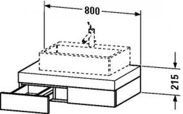 duravit fogo konsole 8521 800mm mit ausschnitt mittig fo85210. Black Bedroom Furniture Sets. Home Design Ideas
