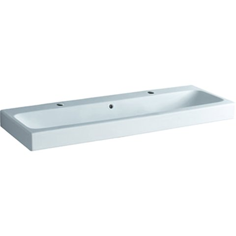 Geberit iCon washbasin 120x48,5cm white, 124020 with two tap holes