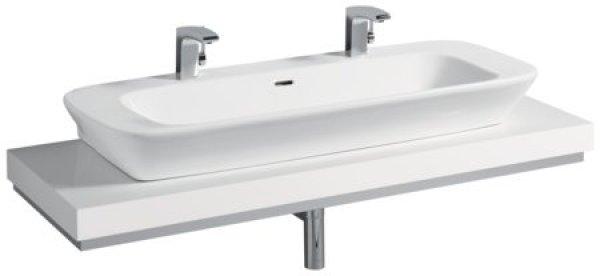 keramag silk waschtischplatte 816643 140x10x47cm ausschnitt mittig weiss 816643000. Black Bedroom Furniture Sets. Home Design Ideas