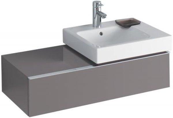 keramag icon waschtischunterschrank 840592 890x240x477 mm platin hochglanz 840592000. Black Bedroom Furniture Sets. Home Design Ideas