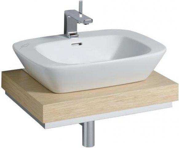 keramag silk waschtischplatte 816260 60x10x47cm ausschnitt mittig eiche 816260000. Black Bedroom Furniture Sets. Home Design Ideas