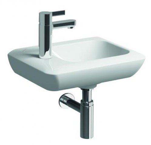 keramag it handwaschbecken ohne berlauf 272940 400x280mm mit hahnloch links 272940. Black Bedroom Furniture Sets. Home Design Ideas