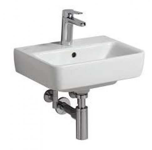 Keramag Renova Nr.1 Comprimo New Hand-rinse basin, 45x34cm, 276145, with tap hol...
