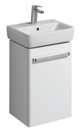 Keramag Hand-rinse basin Vanity unit Renova Nr. 1 Comprimo New 399x604x310mm white matt/high-gloss white