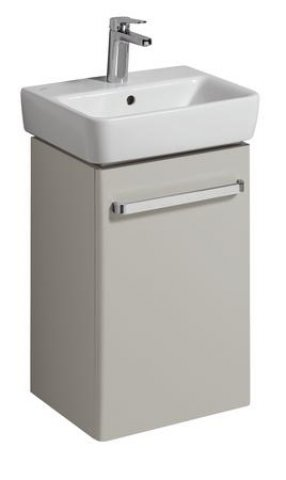 Keramag Hand-rinse basin Vanity unit Renova Nr. 1 Comprimo New 399x604x310mm Light grey matt/light grey high g...
