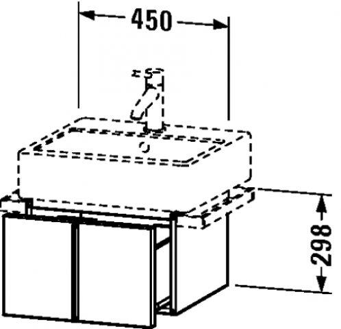 duravit vero waschtischunterschrank wandh ngend 6103 mit 1 auszug 450mm ve61030. Black Bedroom Furniture Sets. Home Design Ideas