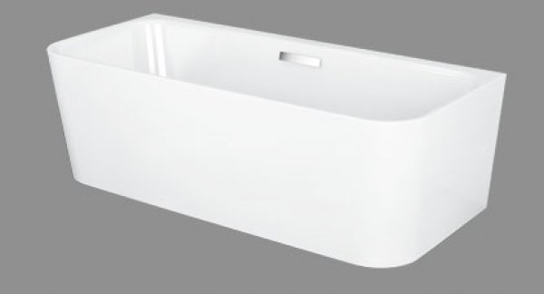 Bette Art I pre-wall bathtub, 180x80cm, 2 back slopes, 3480 CWVHK