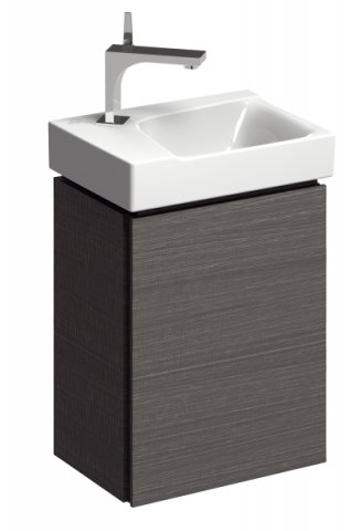 Keramag Xeno 2 Hand-rinse basin vanity unit 807042 380x525x265mm, wood texture Scultura grey