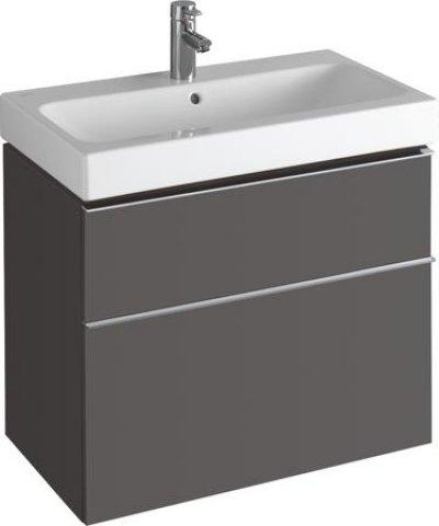 keramag icon waschtischunterschrank 841376 740x620x477 mm lava matt 841376000. Black Bedroom Furniture Sets. Home Design Ideas