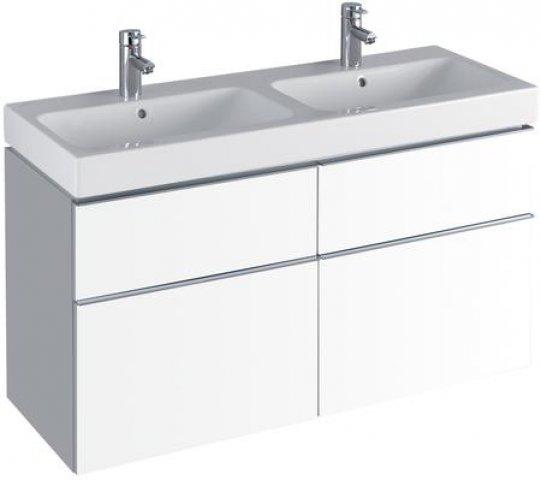Keramag icon doppel waschtischunterschrank 841520 1190x620x477mm alpin matt 841520000 - Doppel waschtischunterschrank ...