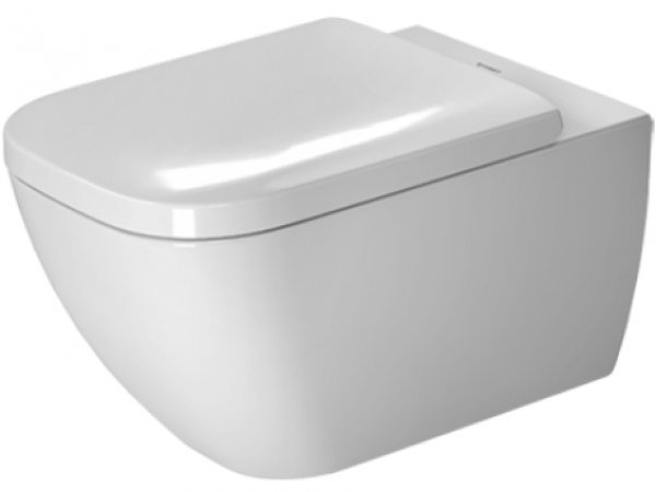 Duravit Happy D.2 54cm wall-mounted WC, rimless, with concealed fixing (Durafix)...