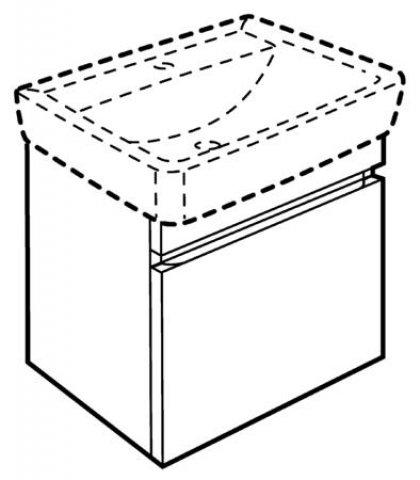 Keramag Renova Nr1 Plan Waschtischunterschrank 869550 470x586x400mm