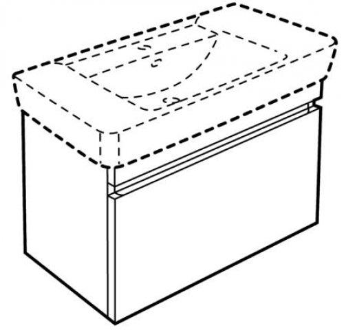 Keramag Renova Nr1 Plan Waschtischunterschrank 869100
