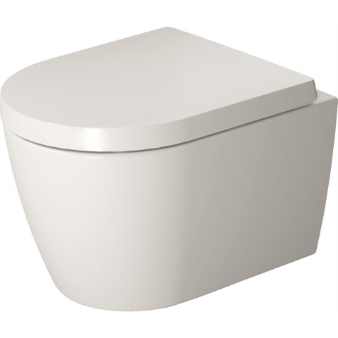 Duravit ME by Starck wall-hung WC, rimless, wash-out, Durafix included, 370 x 48...
