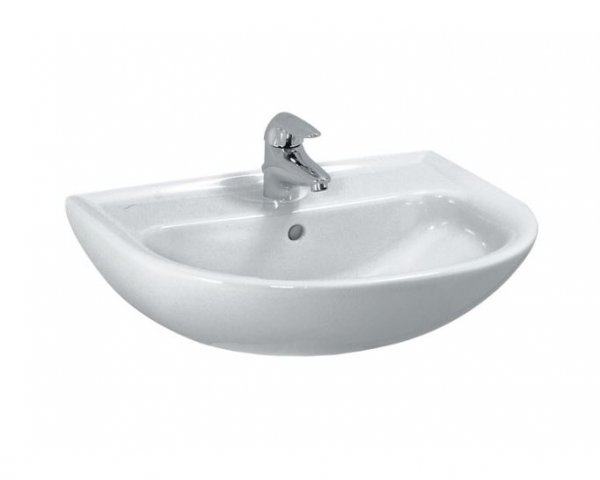 Laufen PRO B Hand-rinse basin, 1 tap hole, without overflow, 450x330, white