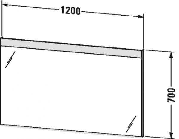 duravit good spiegel mit beleuchtung mit wandschaltung led randlichtfeld oben lm783. Black Bedroom Furniture Sets. Home Design Ideas