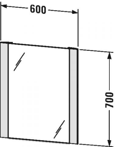 duravit better spiegel mit beleuchtung mit sensorschaltung led randlichtfelder seitlich lm787. Black Bedroom Furniture Sets. Home Design Ideas