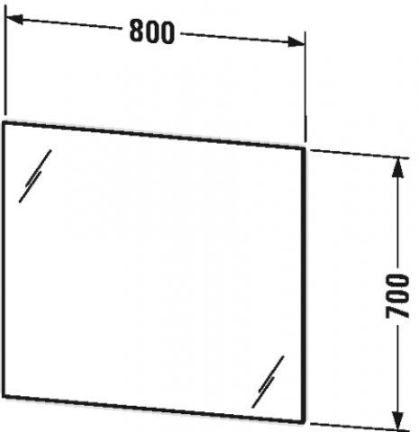 duravit better spiegel mit beleuchtung mit sensorschaltung led indirektlicht 4 seitig lm781. Black Bedroom Furniture Sets. Home Design Ideas