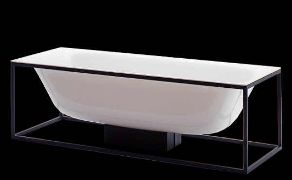 Bette Lux Shape rectangular bathtub free-standing 180x80x45cm, 2 back sloping, 3...