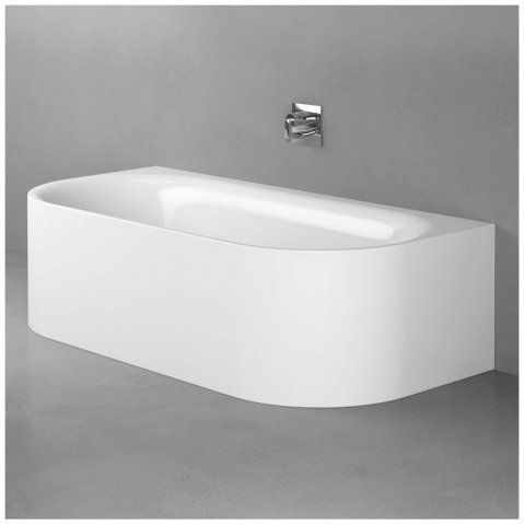 Bette Lux Oval I Silhouette pre-wall bathtub 180x85x45cm, 2 back sloping, 3416CW...