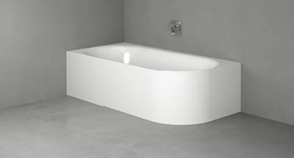 Bette Lux Oval IV Silhouette corner bathtub 195x95x45cm, 2 back inclines, Instal...
