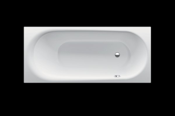 Bette Comodo bathtub, 180 x 80 cm, 1621-, lateral overflow in front