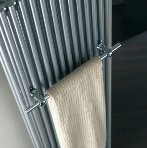 HSK towel rail 500 mm, chrome, suitable for Mod. TWIN Design radiators