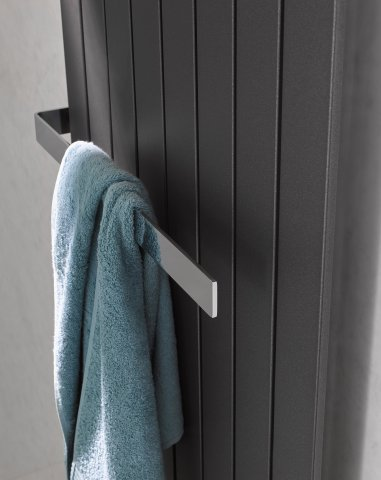 HSK towel rail 430 mm, open on one side, for Atelier Line and Alto design radiators