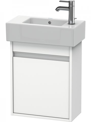 Duravit Ketho Vanity unit wall-mounted 6629, 1 wooden door, left-hinged, 450mm, for Vero