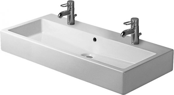 Duravit washbasin Vero 1000mm, with overflow, with tap hole bench, 2 tap holes