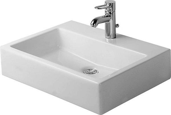 duravit waschtisch vero med 600mm ohne berlauf mit hahnlochbank 1 hahnloch 0454600041. Black Bedroom Furniture Sets. Home Design Ideas