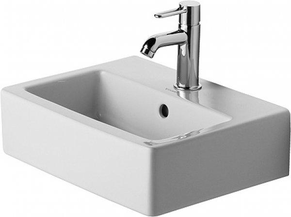 duravit handwaschbecken vero 45cm mit berlauf mit hahnlochbank ohne hahnloch 070445. Black Bedroom Furniture Sets. Home Design Ideas