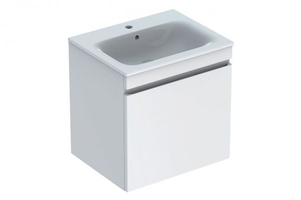 Keramag Renova Nr.1 Plan Furniture-washbasin vanity unit 869560 588x585x473mm, white high gloss