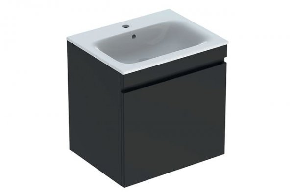 Keramag Renova Nr.1 Plan Furniture-washbasin vanity unit 869561 588x585x473mm, lava matt