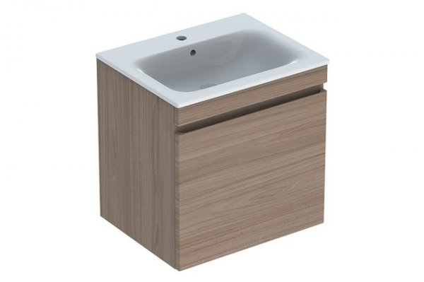 Keramag Renova Nr.1 Plan Furniture-washbasin base unit 869562 588x585x473mm, elm brushed